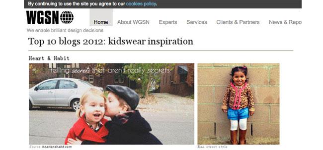 WGSN Top 10 kidswear inspiration blogs