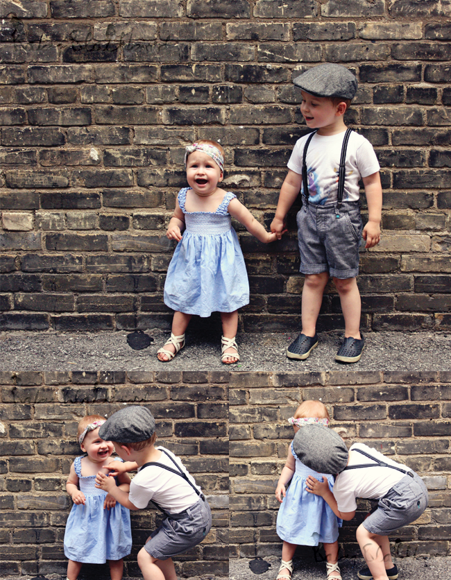 family style, what we wore, fashionable family, fashion loving family, heat wave, h&m kids clothing, DIY baby scarf headband, zara baby sandals, native kids shoes, boys h&m suspenders, boys american apparel tee,