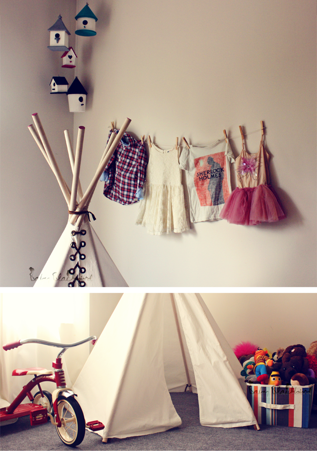 DIY play tee pee, diy kids teepee, homemade play teepee, 3 year old birthday gift