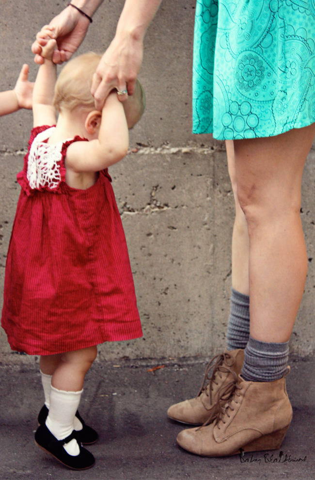 family style, what we wore, fashionable family, fashion loving family, outfit post, casual fashion, zara baby girl crochet dress, zara baby girl black strap shoes, h&m womens flannel vest, zara womens turquoise dress, theit the bossi stylish camera bag, zara womens wedge hiking boots, warby parker eldirdge tennessee whisky frames