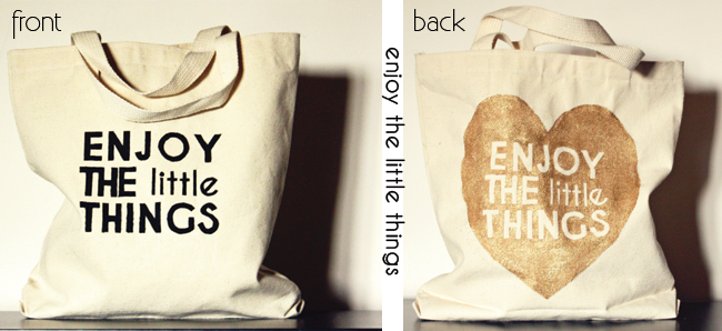 diy screen printed graphic tote bags, dit tote bags for kids, enjoy the little things, city kids shopping bags