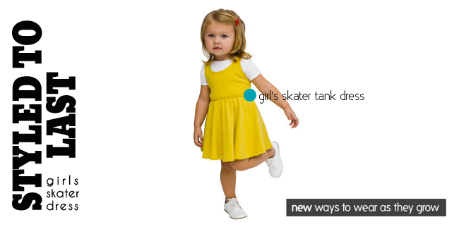 kids styling tips, tips to extend the life of your kids clothes, american apparel kids skater dress