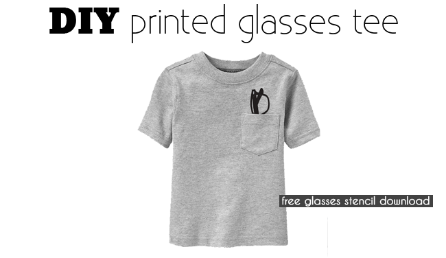 diy printed kids glasses tee