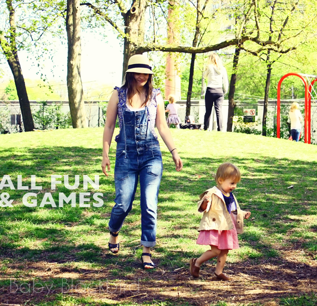 family life, family fashion, family style, all fun and games, toddler running away