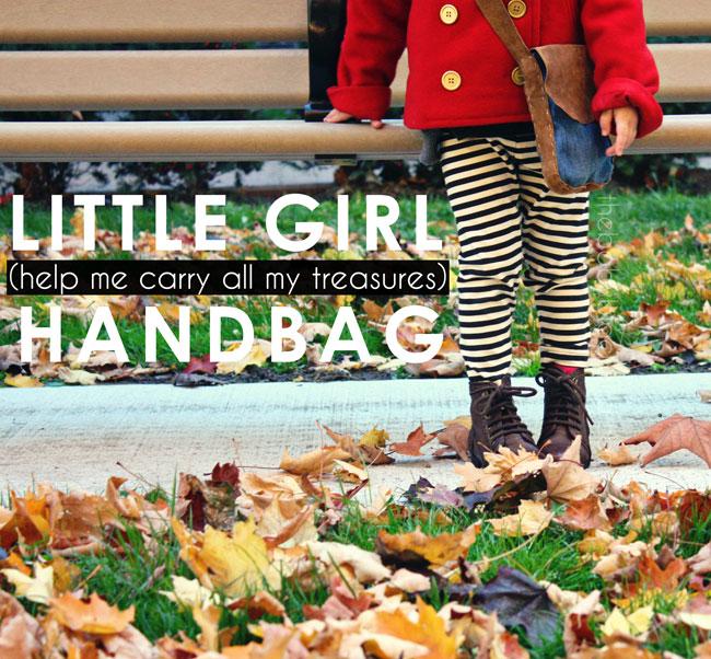 little girl handbag, girls handmade handbag, little girl style, little girl bag, kids style handbag DIY for kids