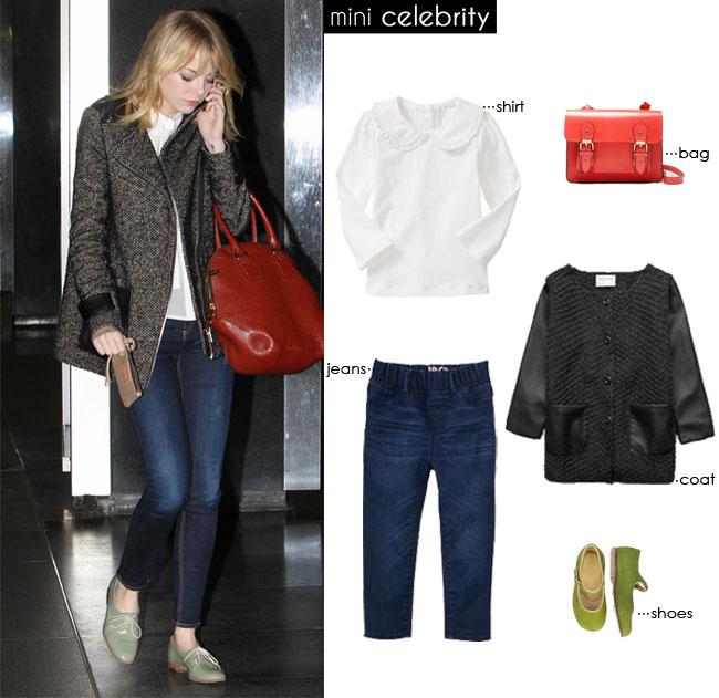 mini Emma Stone, mini style, kids style, kids fashion