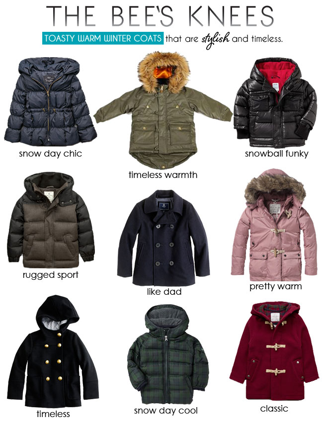 the best kids winter coats, kids style, timeless kids style, the bees knees