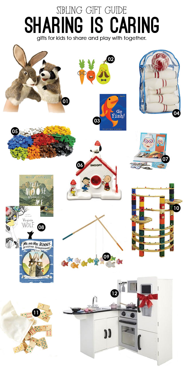 sibling gift guide, toys to promote sharing, toys for kids to play together, sibling gifts