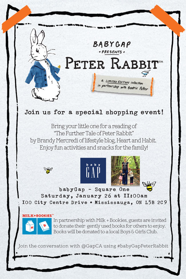 shopping event, kids style, peter rabbit, the gap special collection