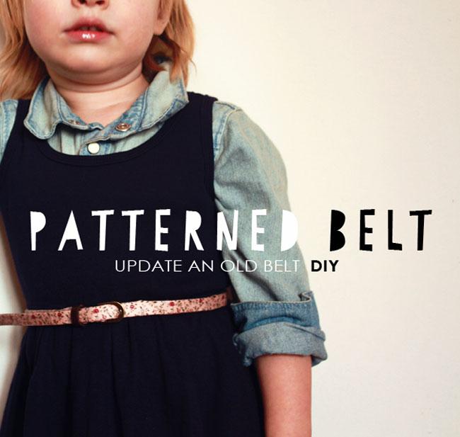 kids style, make old new, fix an old belt, toddler belts, toddler patterned belt, diy belt, diy patterned belt