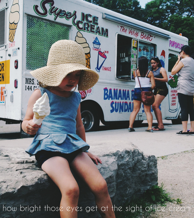 moments to rememeber forever, capturing moments to remember, young family life, toronto young family, ice cream makes days, ice cream truck means summer