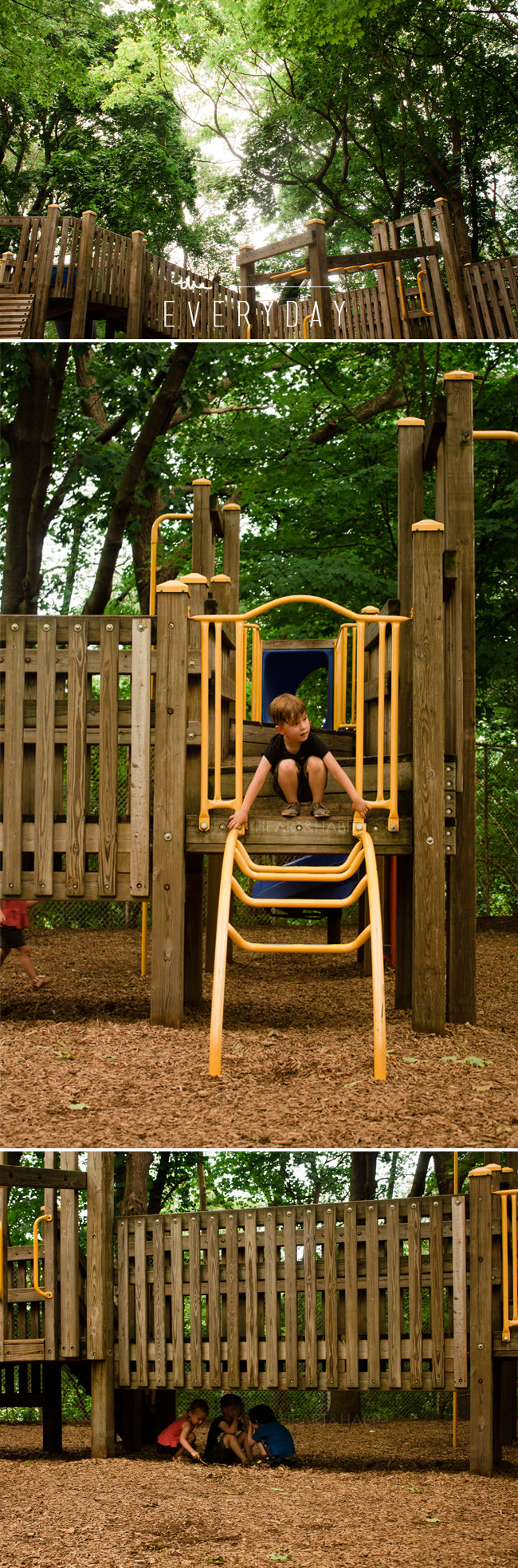 enjoying everyday moments, watching kids play, kids interacting, park play