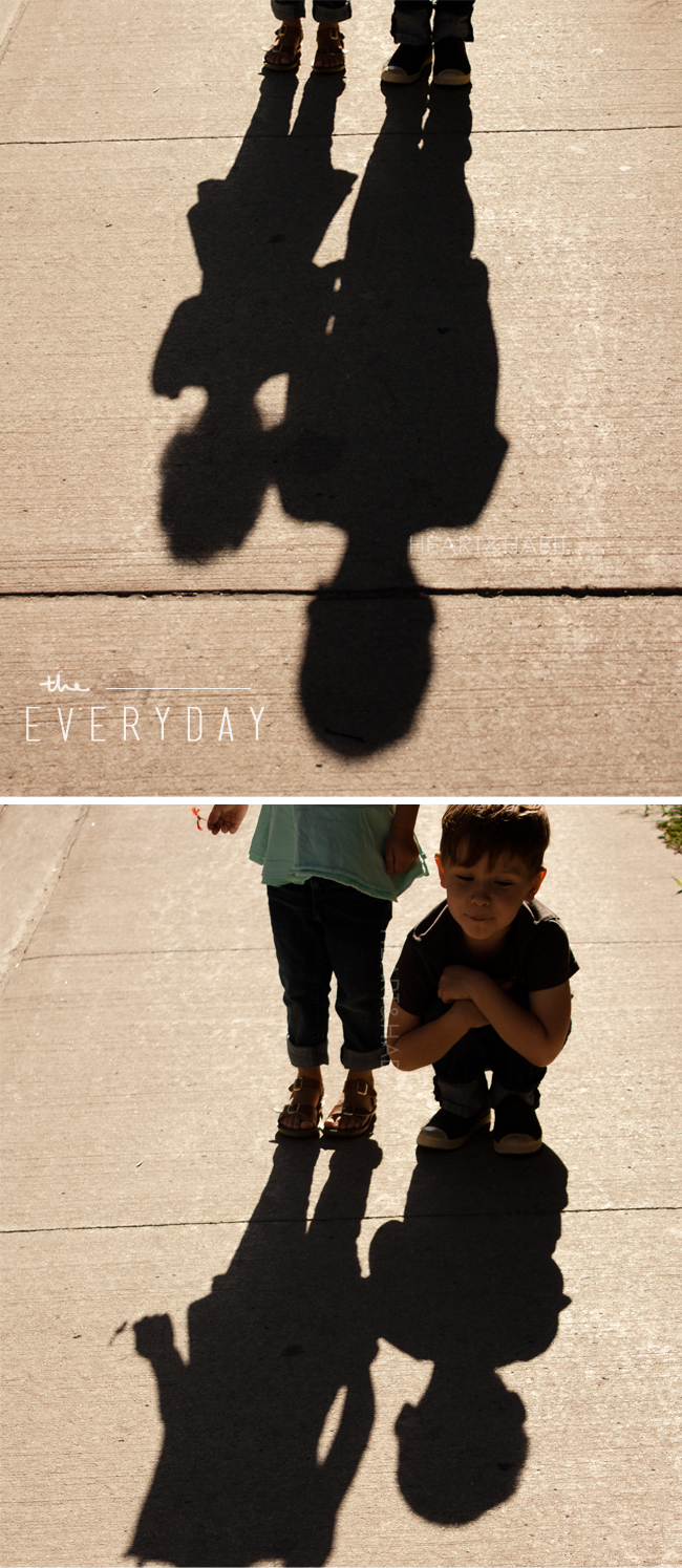 everyday moments, enjoy the little things, fun with shadows, fall shadows, kids love shadows