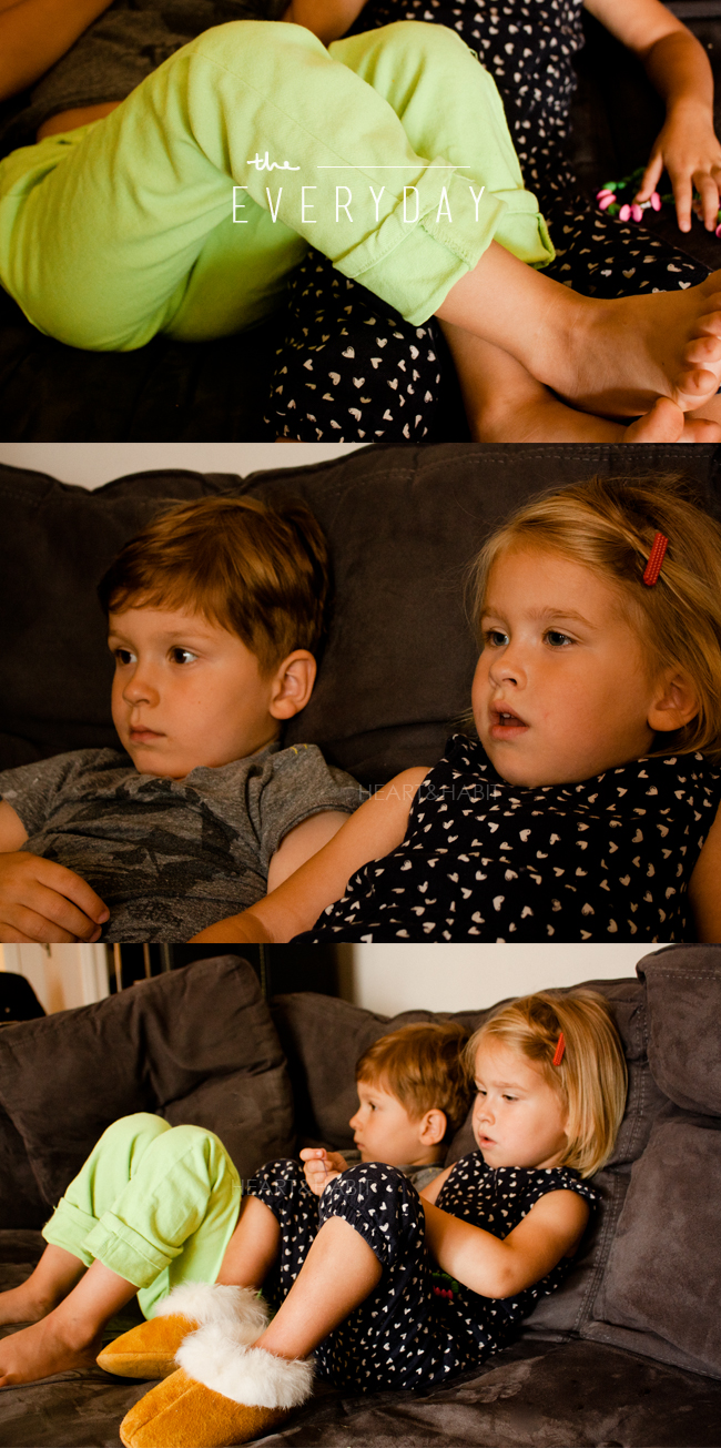 everyday moments, enjoying little moments, kids watching tv, sibling time