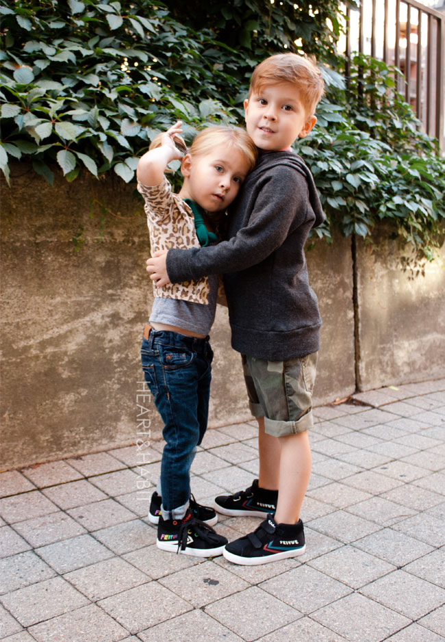 feiyue kids shoes, feiyue kids sneakers, kids style, loving siblings, shoes made for jumping, city kids,