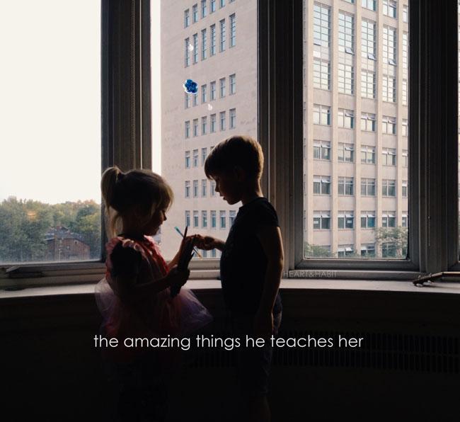 siblings teaching eachother