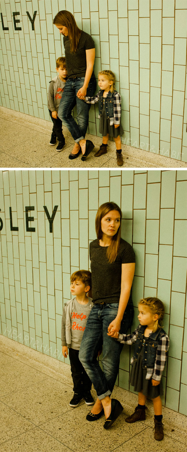 toronto urban family, family waiting for ttc, young family, family style, everyday moments