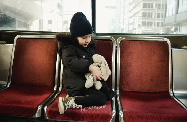 city kid on the street car