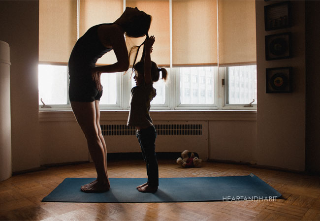 yoga with kids, take a breath this season, crazy holidays