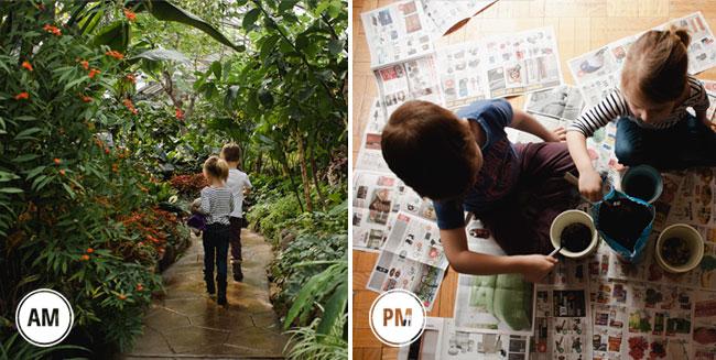 greenhouse adventure, potting plants
