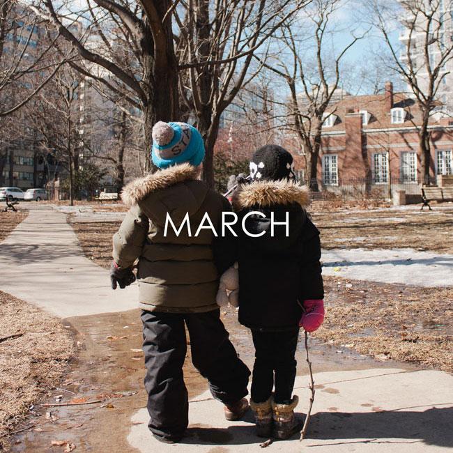 MARCH #SAMESPOTCALENDAR