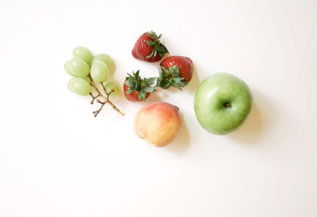 wash fruit and veggies