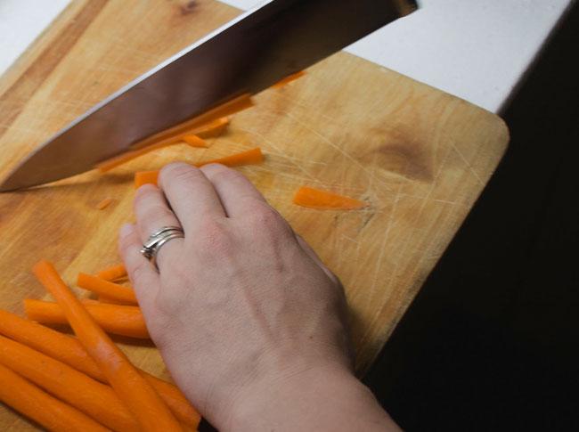 chop and peel veggies