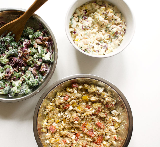 prepare hearty salads ahead of time