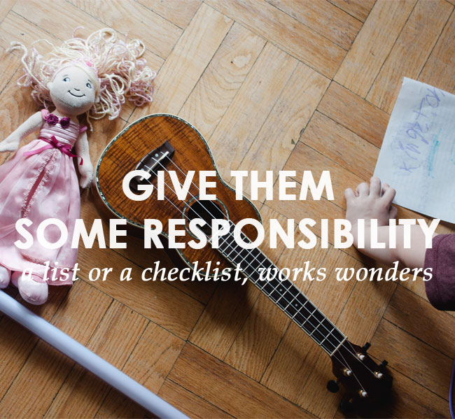 easier mornings with kids: give them some responsibility