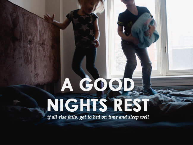 make mornings easier with kids: get a good nights rest