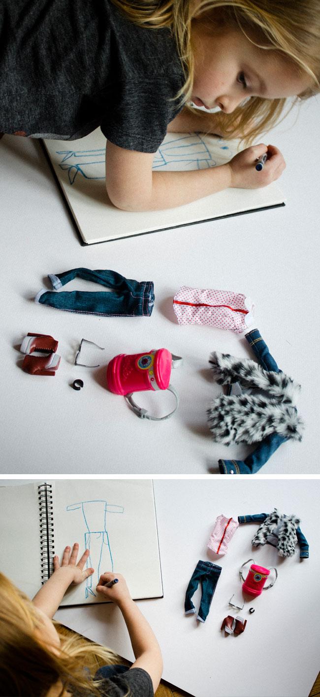 a budding fashion designer