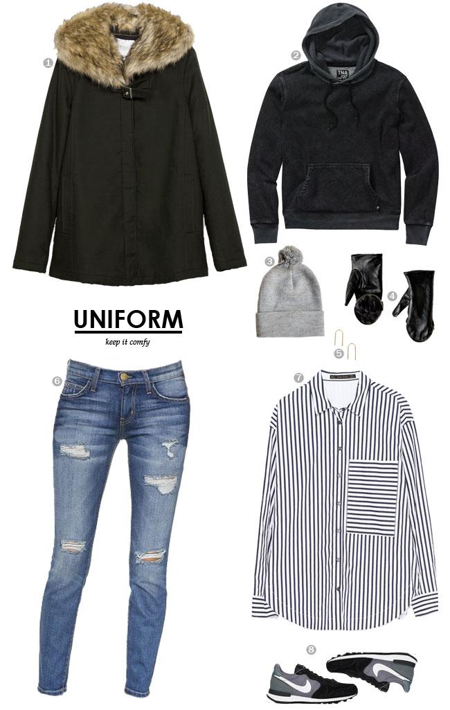 UNIFORM / keep it comfy #style
