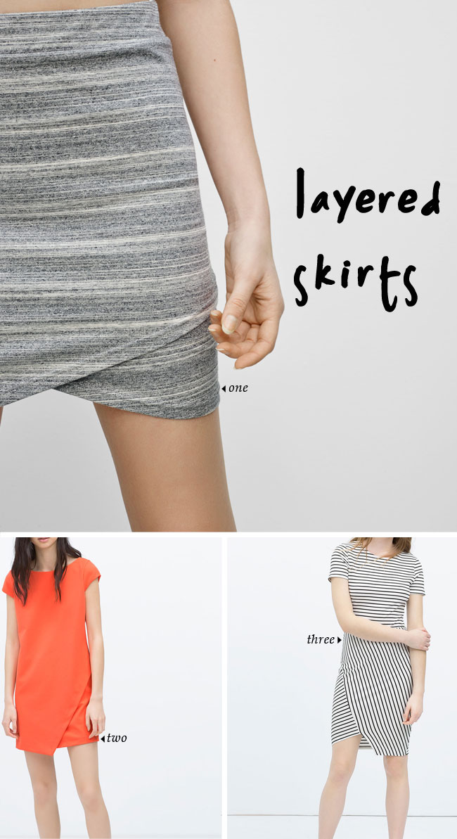 Spring 2015 Trends | layered skirts