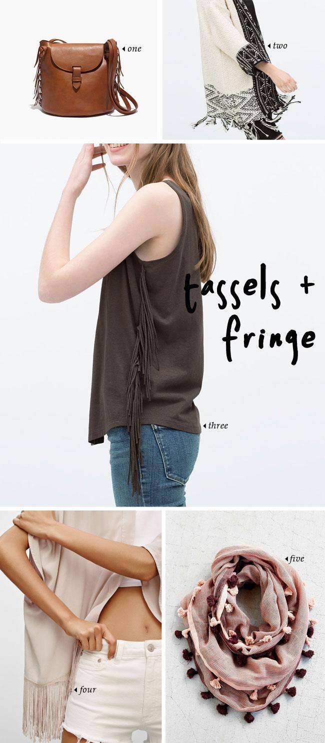 spring trends   tassels and fringe