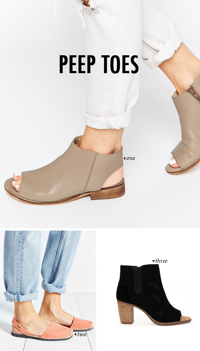 spring summer shoe trends | peep toe