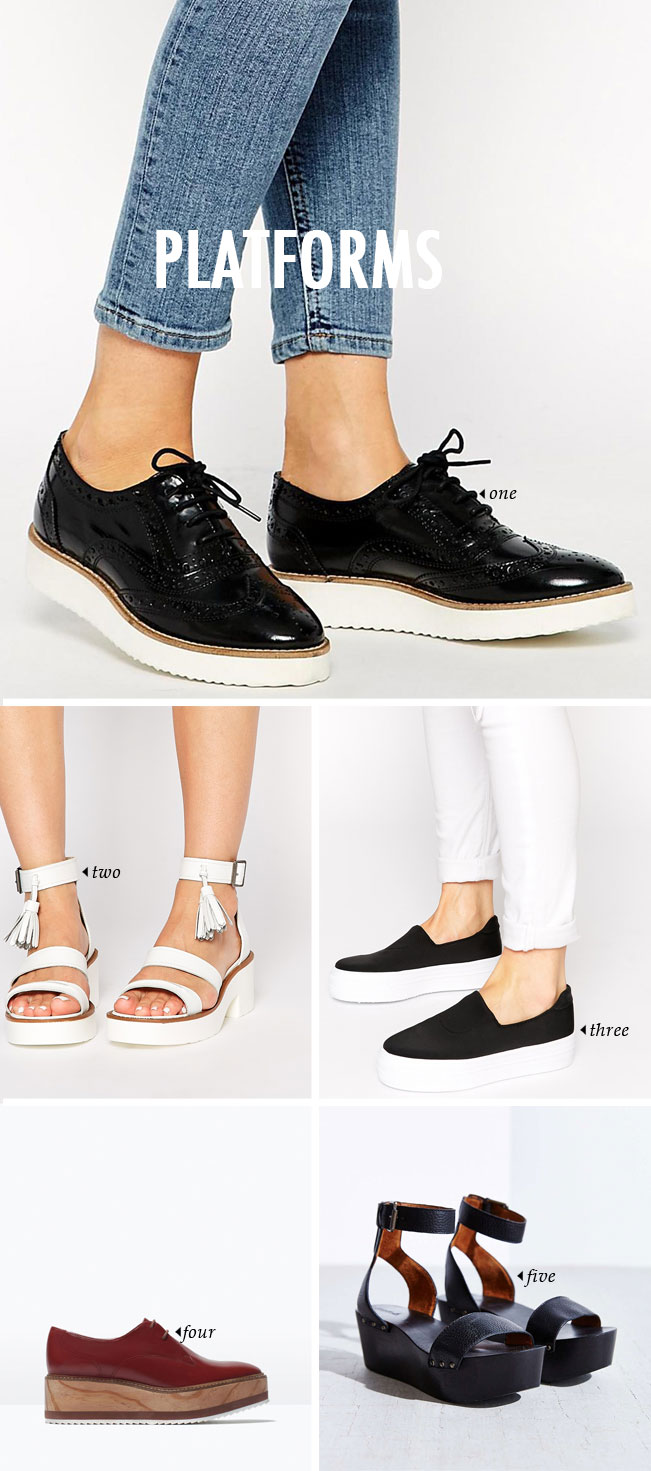 spring summer shoe trends | platforms