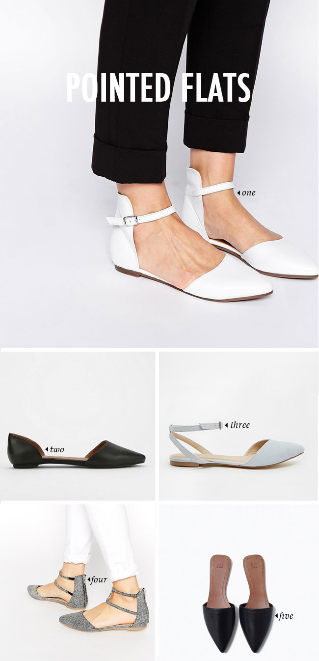 spring summer shoe trends | pointed flats