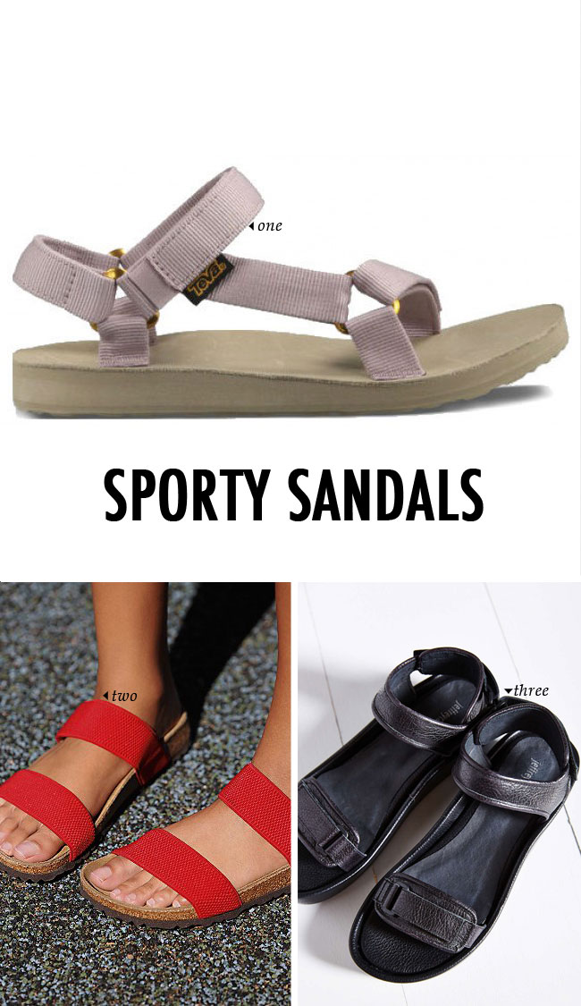 spring summer shoe trends | the sporty sandal