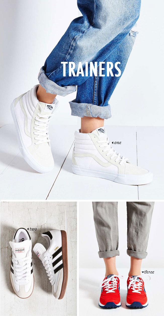 spring summer shoe trends | trainers