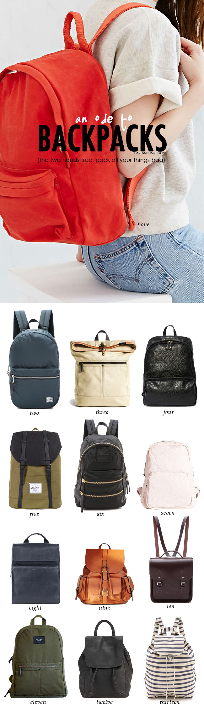 Ode To Backpacks