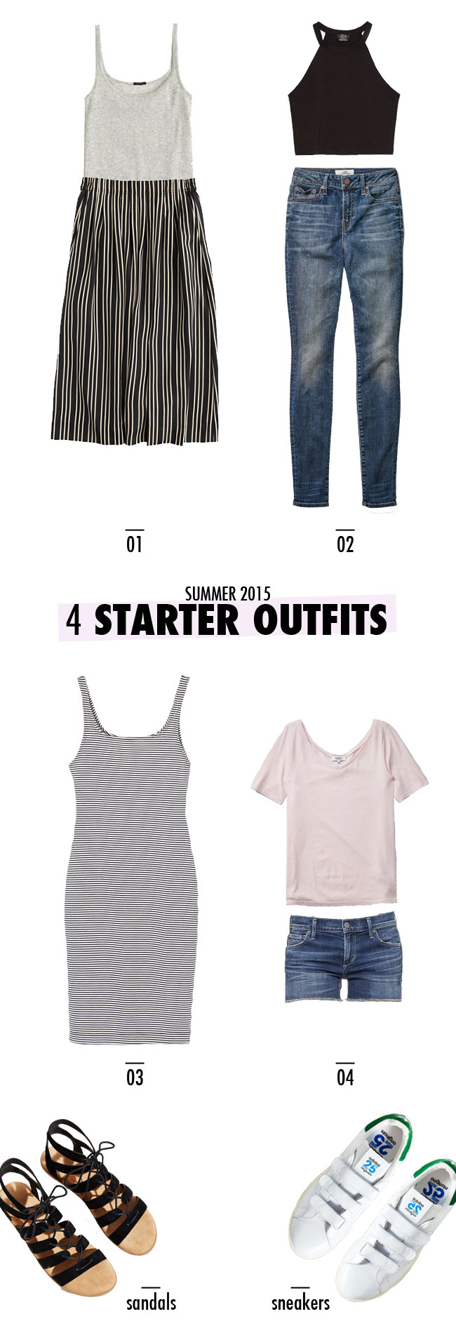 4 Starter Outfits for Your Summer Wardrobe #minimal