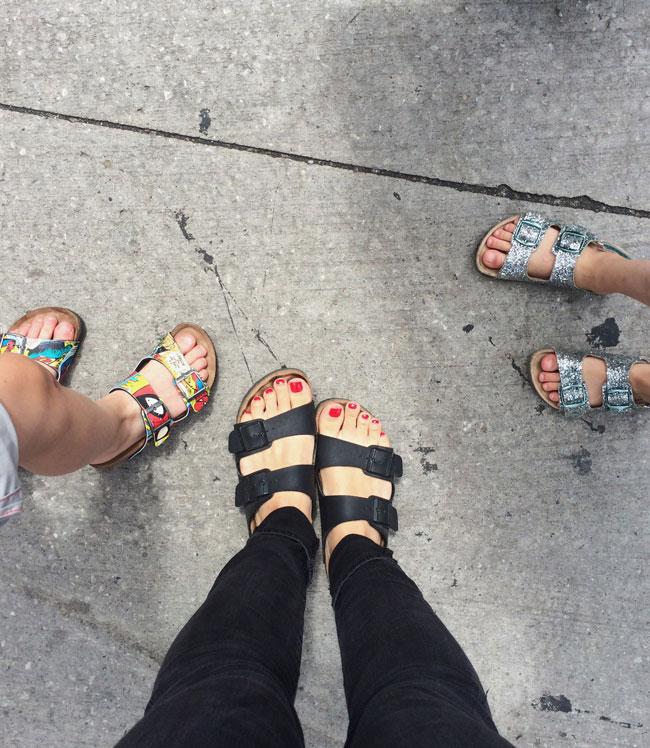 matching sandals #birkfamily
