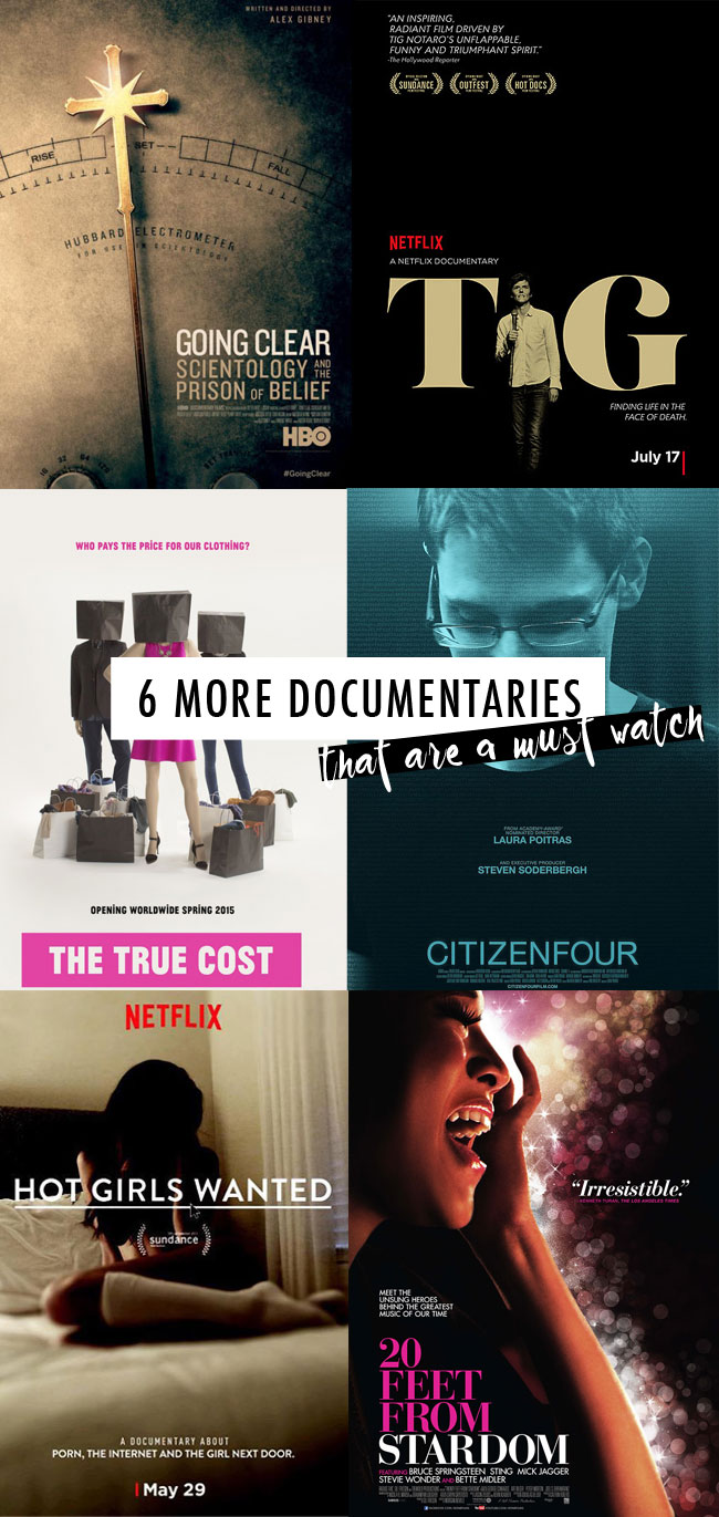 6 more documentaries to watch