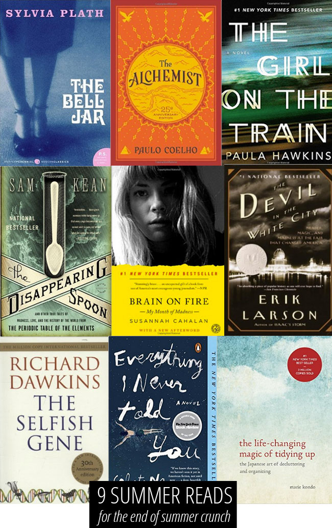 9 Summer Reads, for The Last Leg of Summer