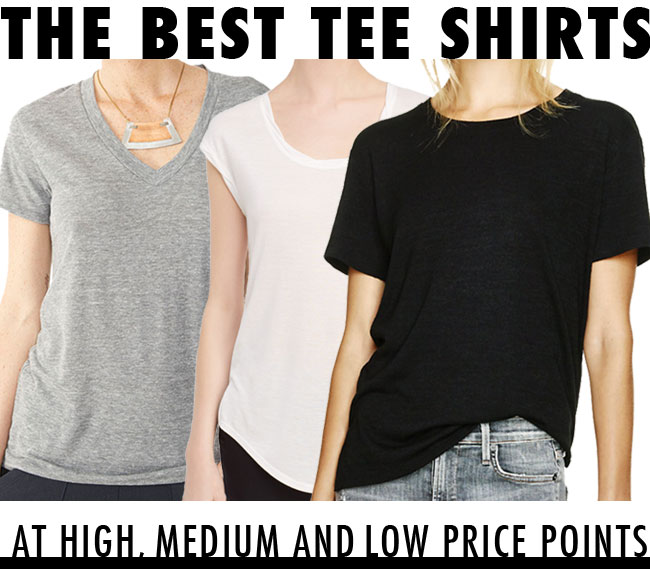the best tee shirts / at high, low and medium prices