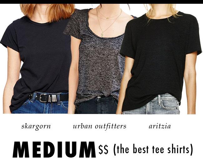 the best tee shirts / medium price point