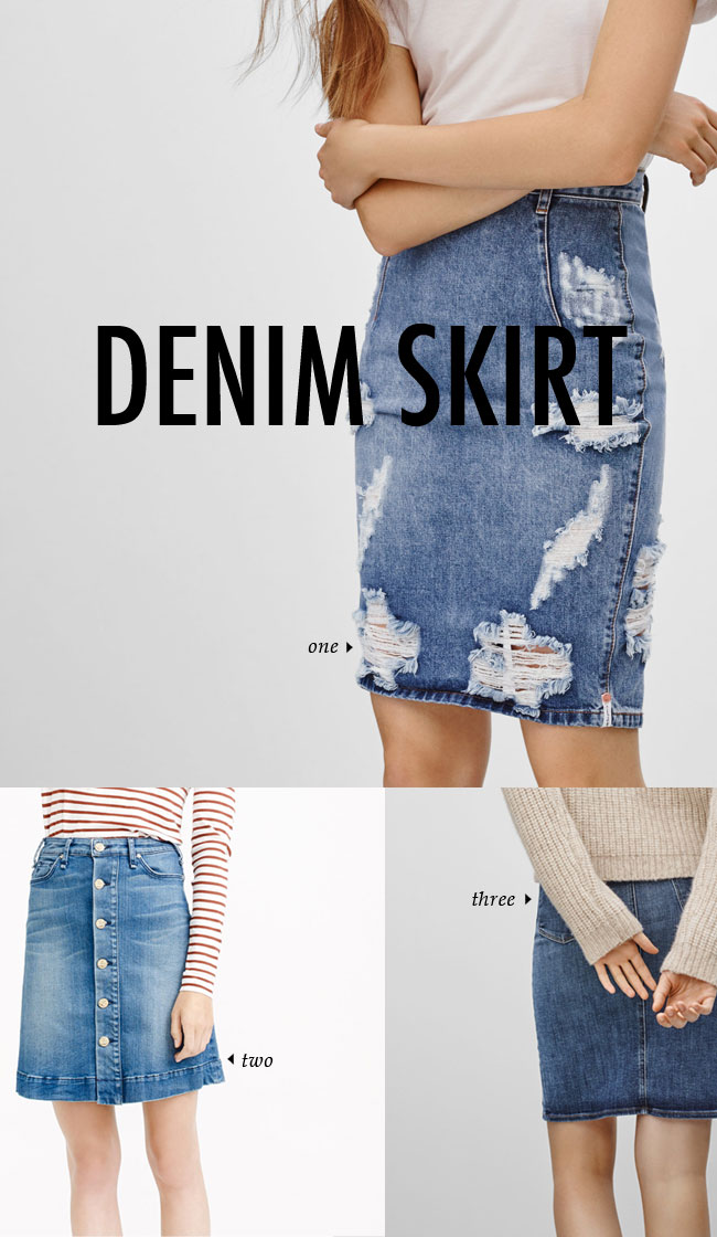 FALL WINTER 2015 TRENDS / denim skirt #fallstyle