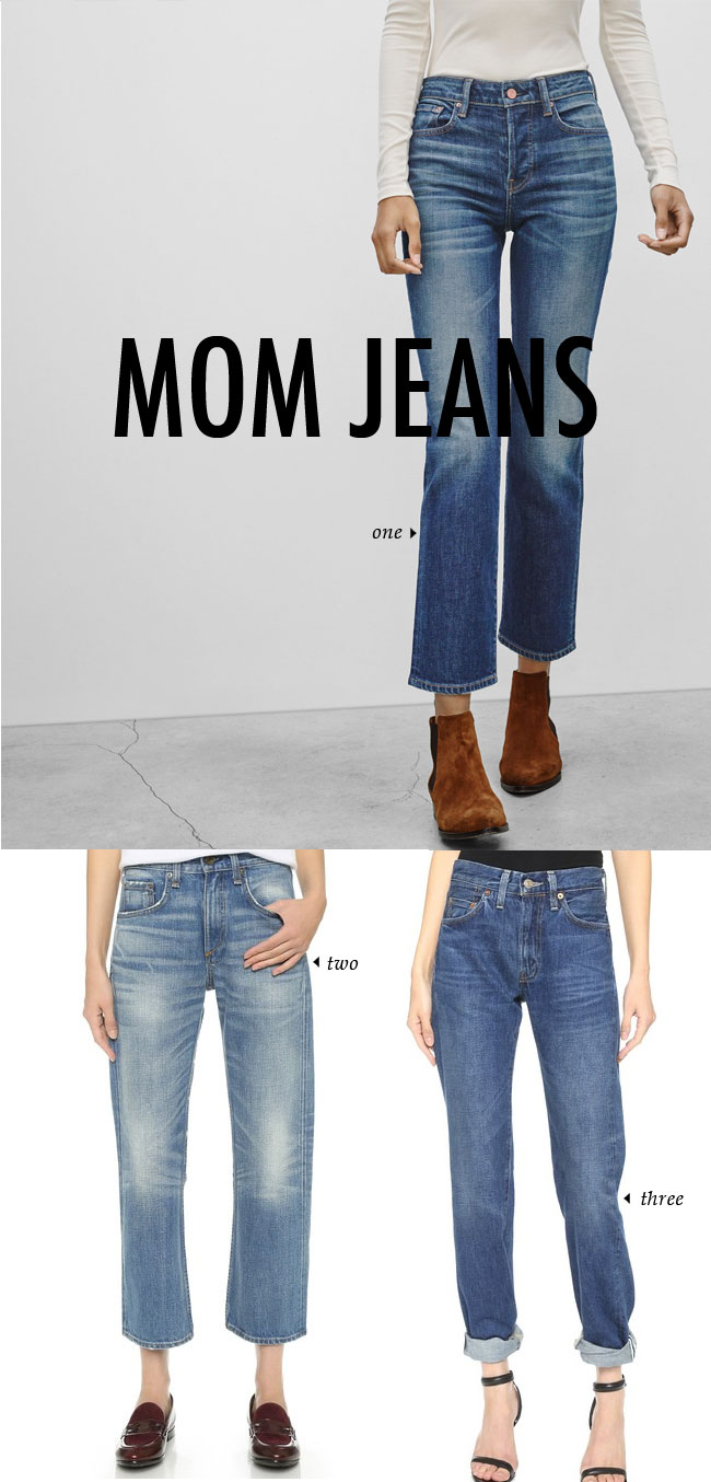 FALL WINTER 2015 TRENDS / mom jeans #fallstyle