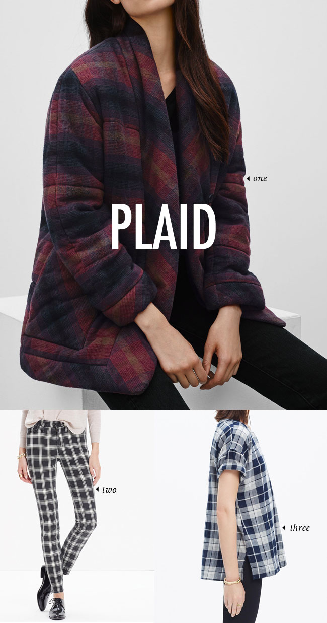 FALL WINTER 2015 TRENDS / plaid #fallstyle