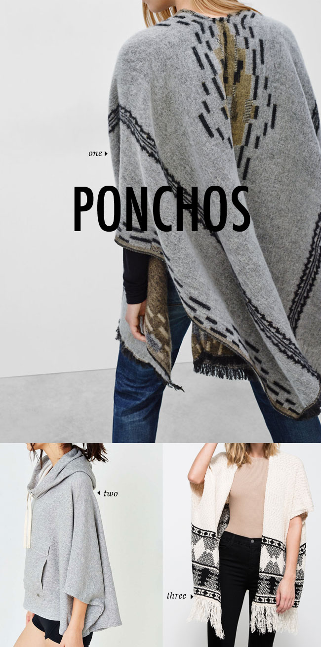 FALL WINTER 2015 TRENDS / ponchos #fallstyle